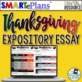SMARTePlans Thanksgiving Writing for Google Drive