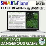 The Most Dangerous Game Digital Close Read - Distance Learning