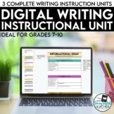 Digital Writing Teaching Bundle for Distance Learning (SMA