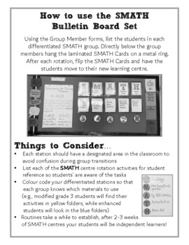 Math Workshop Bulletin Board Set (SMATH)