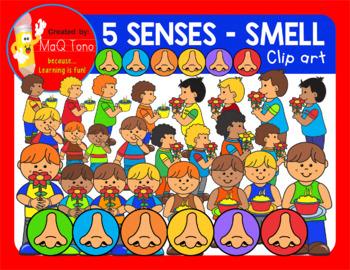 SMELL -  FIVE SENSES CLIP ART