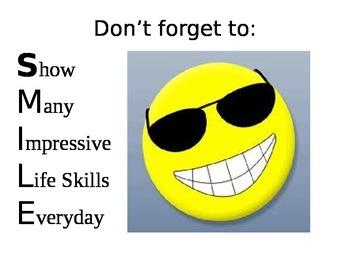 SMILE Lifeskills Poster