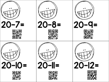SMILE! You Can Subtract with QR CODES Common Core Aligned
