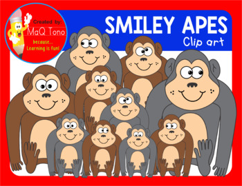 SMILEY APES CLIPARTS