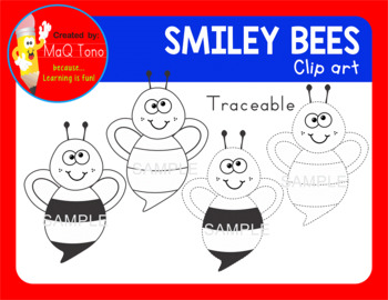 SMILEY BEES Cliparts