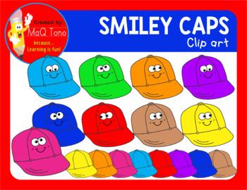 SMILEY CAPS CLIPART