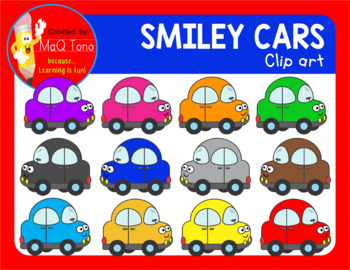 SMILEY CARS CLIPART