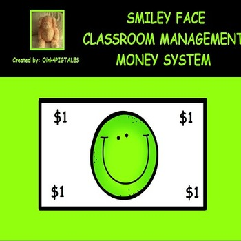SMILEY FACE THEME LIME GREEN REWARDS AND CLASSROOM MANAGEMENT SET