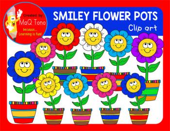 SMILEY FLOWER POTS