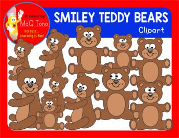 SMILEY TEDDY BEARS Cliparts