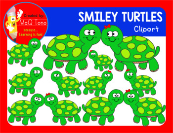 SMILEY TURTLES CLIPART