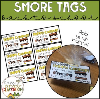 SMORE Happy Camper Gift Tag