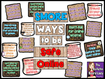 SMORE Ways to Be Safe Online Computer Bulletin Board
