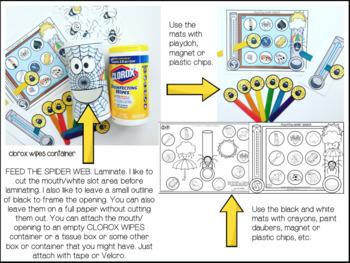 ITSY BITSY SPEECH SPIDER  FEEDING MOUTH worksheets EASY PREP & NO PREP