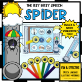 ITSY BITSY SPEECH SPIDER  FEEDING MOUTH worksheets EASY PR