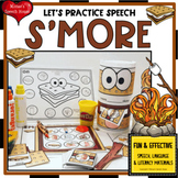 SMORES SPEECH ARTICULATION  worksheets EASY PREP NO PREP SUMMER