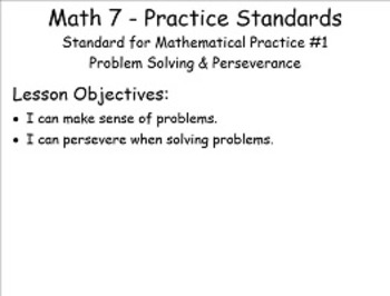 SMP 1 - Problem Solving & Perservere