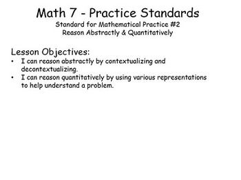 SMP 2 - Reason Abstractly & Quantitatively