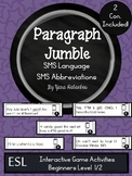 SMS Language Paragraph Sequencing