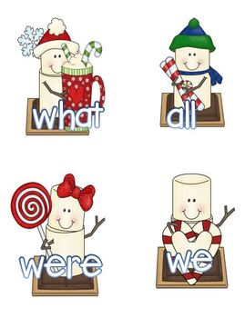 S'More Christmas Fun (CVC and Sight Words Activities)