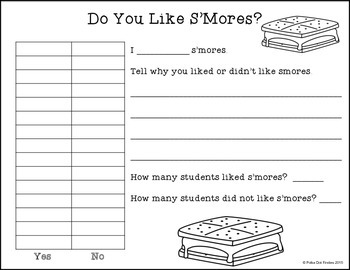 S'Mores {An Interactive Writing Lesson}