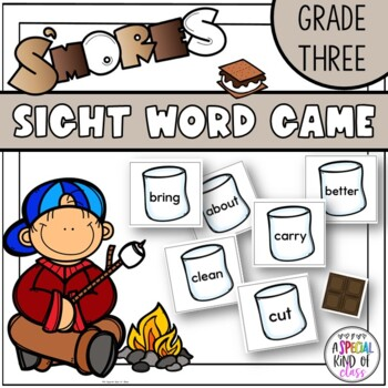 S'More Sight Word Game - Grade Three Dolch word list