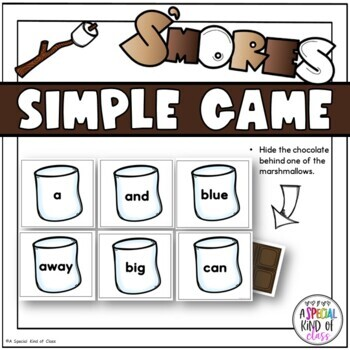 S'More Sight Word Game - Pre-primer Dolch word list