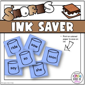 S'More Sight Word Game - Primer Dolch word list