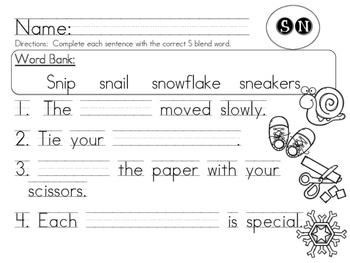 SN Blend Worksheet Packet