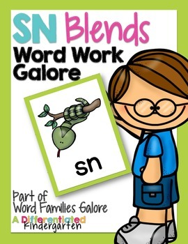 SN Blends Word Work Galore-Differentiated and Aligned Activities and Instruction