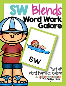 SW Blends Word Work Galore-Differentiated and Aligned Activities and Instruction