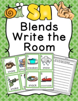 SN Blends Write the Room Activity