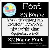 Halloween Font SN Bones