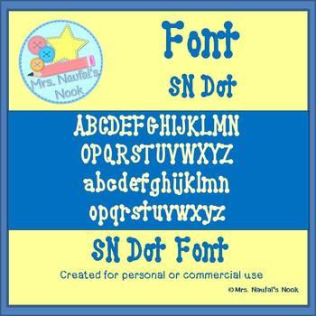 SN Dot Font