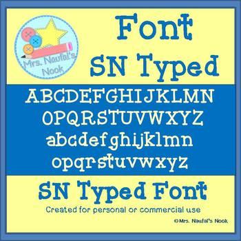 SN Typed Font