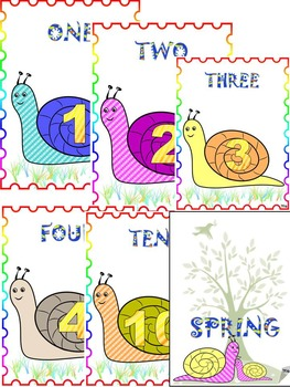Classroom Decor - SNAIL - ALPHABET - NUMBER - SEASONS - MONTHS