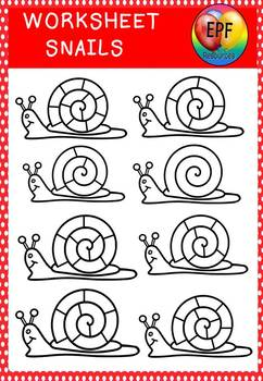 SNAILS CLIPART( FREE WORKSHEET IN PREVIEW)