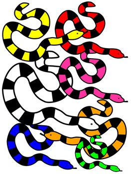 SNAKE CLIP ART * COLOR AND BLACK AND WHITE