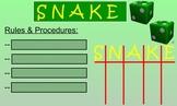 SNAKE Dice Game SMARTBoard