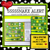 SNAKE GAME POSTER  SPEECH THERAPY  worksheets LOW PREP NO PREP