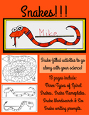 SNAKES!! Hands-On Activities & Creative Writing Prompts to go With Your Science