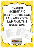 SNAKES SCIENTIFIC METHOD PRE-LAB, LAB, AND POST-LAB ANALYS