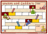BLANK BOARD GAME - Snakes and Ladders - for Sight Words, Number Facts or Phonics