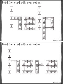 SNAP CUBE SIGHT WORDS ACTIVITIES - PRE-PRIMER