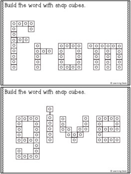 SNAP CUBE SIGHT WORDS ACTIVITIES - FIRST GRADE