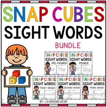 SNAP CUBE SIGHT WORDS ACTIVITIES -Kindergarten First Grade Sight Words BUNDLE