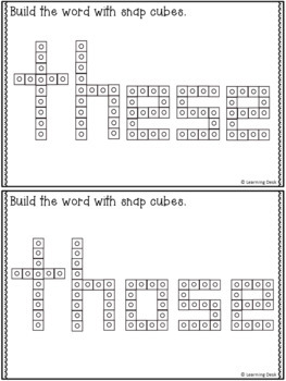 SNAP CUBE SIGHT WORDS ACTIVITIES - SECOND GRADE