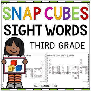 SNAP CUBE SIGHT WORDS ACTIVITIES - THIRD GRADE