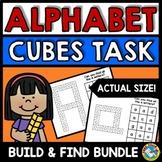 SNAP CUBES ALPHABET CARDS ACTIVITY KINDERGARTEN (LETTER RECOGNITION WORKSHEETS)