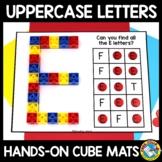 SNAP CUBES ALPHABET WORKSHEETS ACTIVITY KINDERGARTEN (LETTER RECOGNITION CENTER)